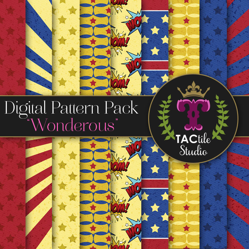 Wonderous Digital Paper Pack