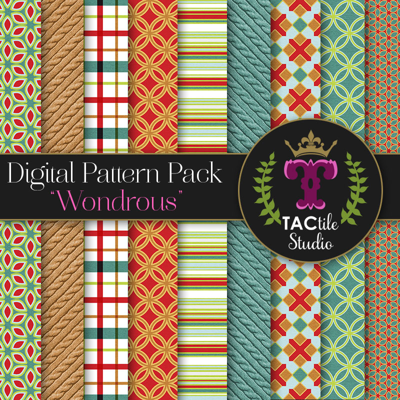 Wondrous Digital Paper Pack