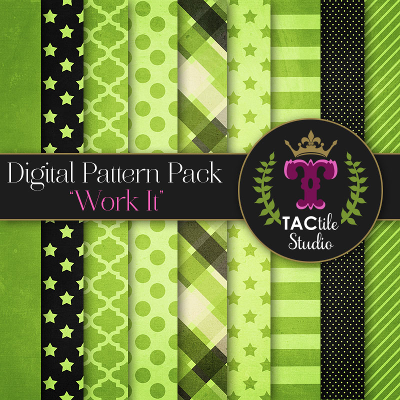 Work It Digital Paper Pack