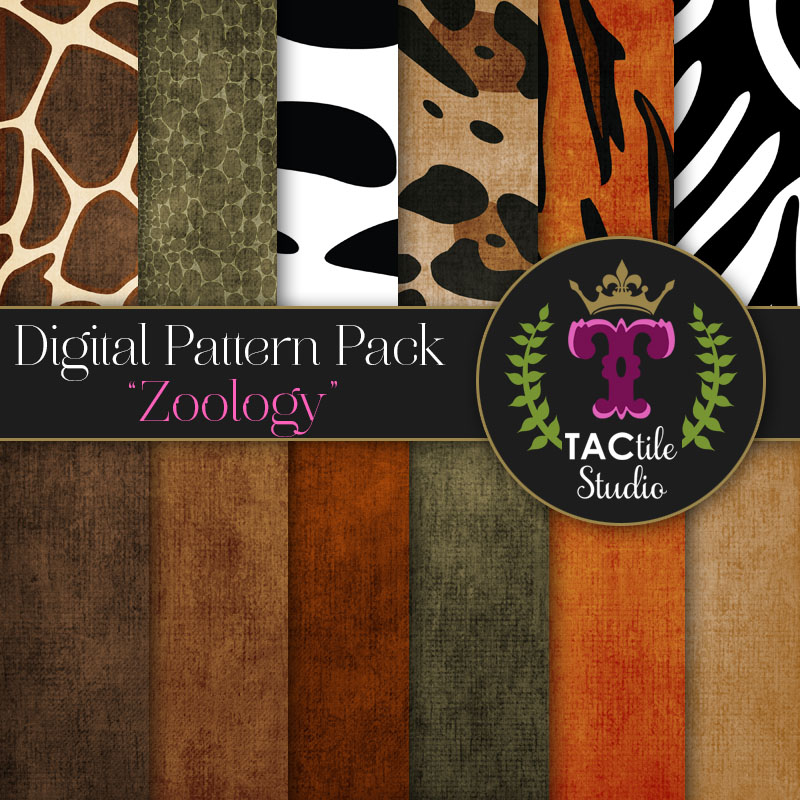 Zoology Digital Paper Pack