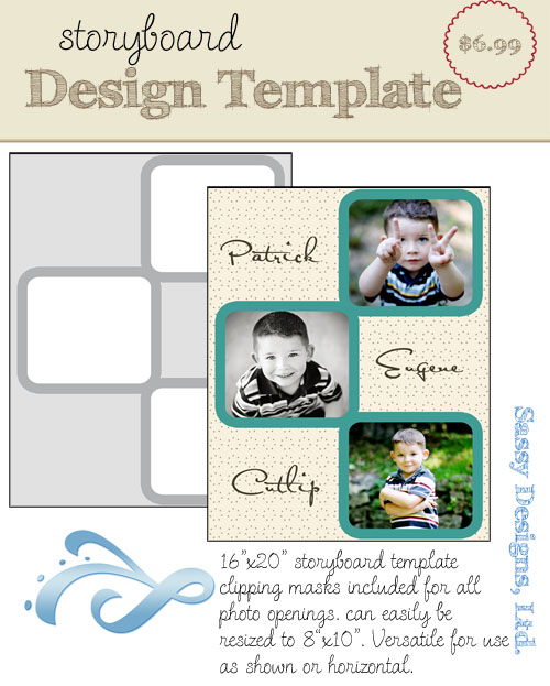 Bordered 16x20/8x10 Storyboard Template