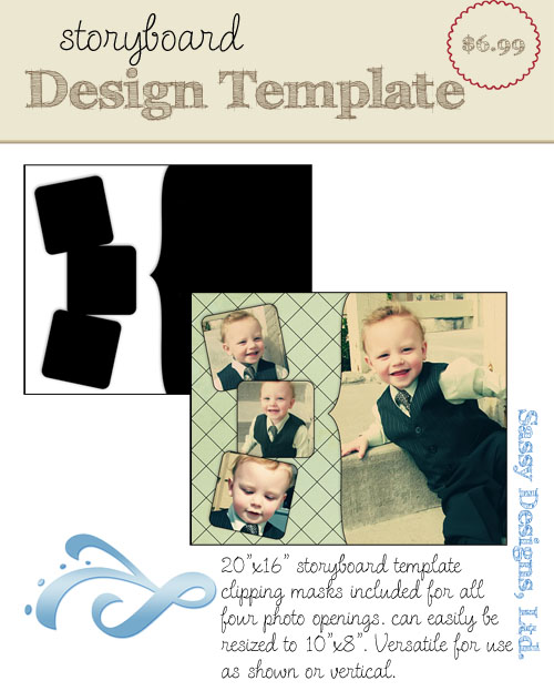 Fancy 16x20/8x10 Storyboard Template