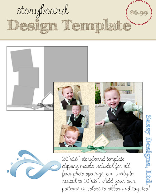 Tagged 16x20/8x10 Storyboard Template