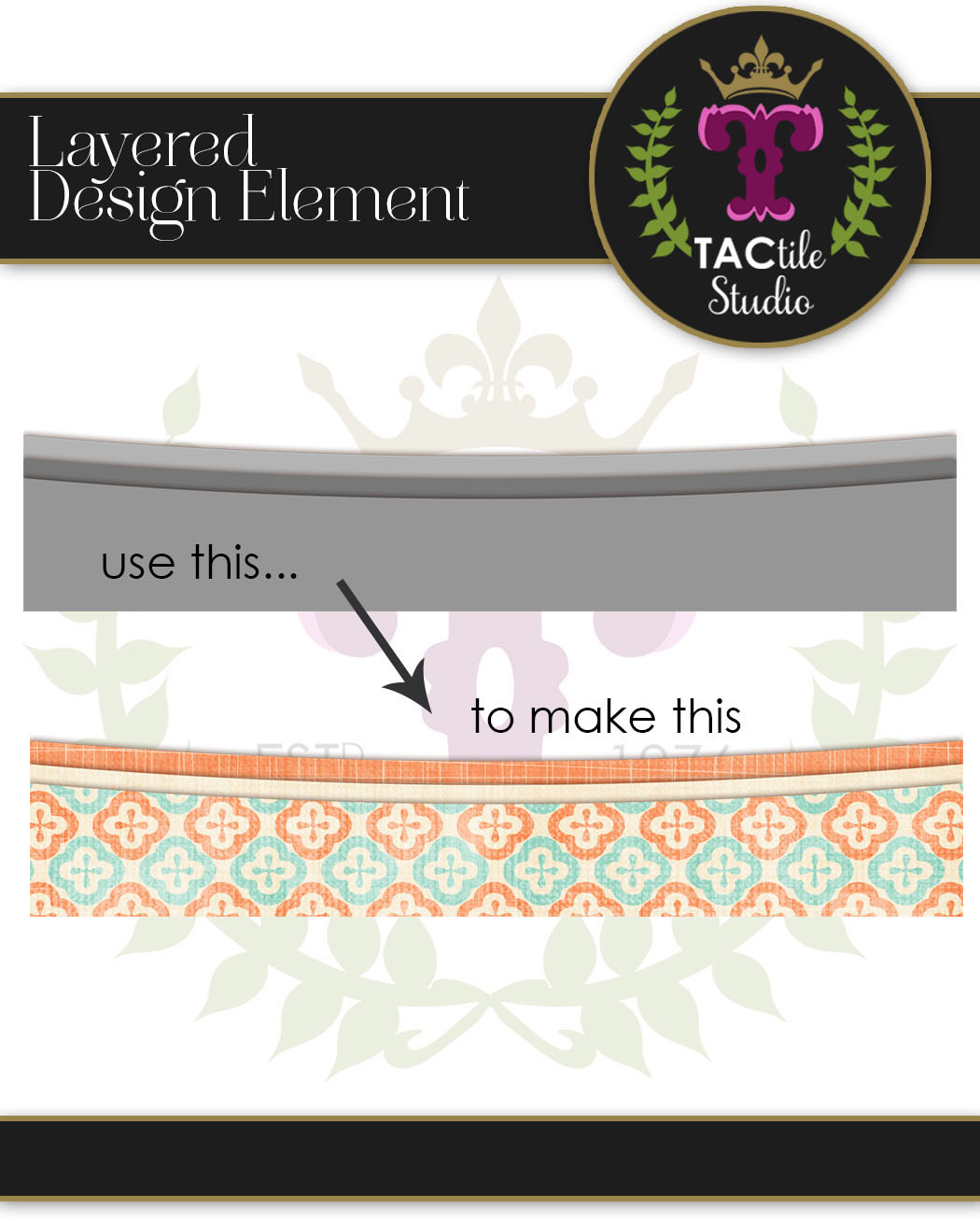 3 Curves Layered Border