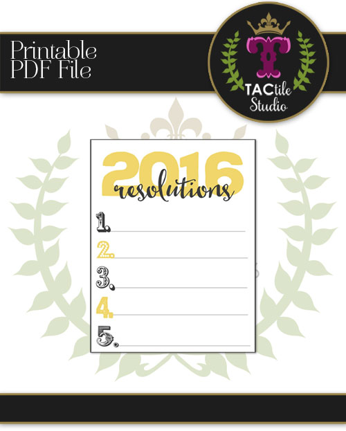 2016 Resolution List Printable