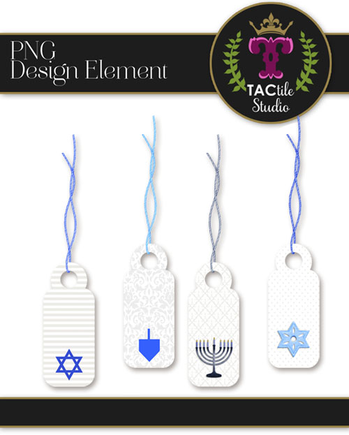 Hanukkah Mini Tags