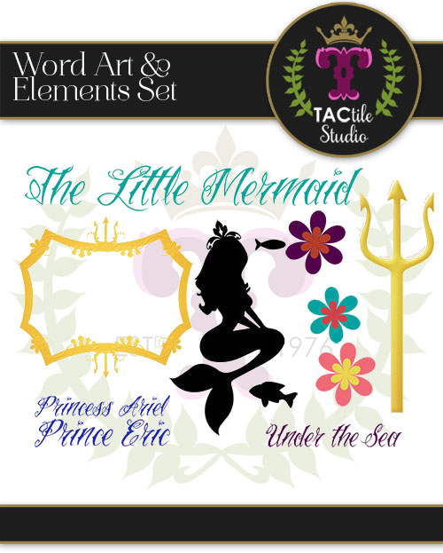 Ariel / The Little Mermaid Inspired Design Elements