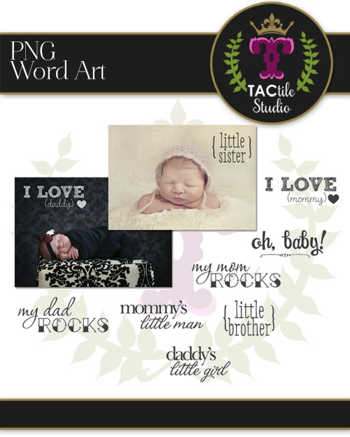 Baby Word Overlays