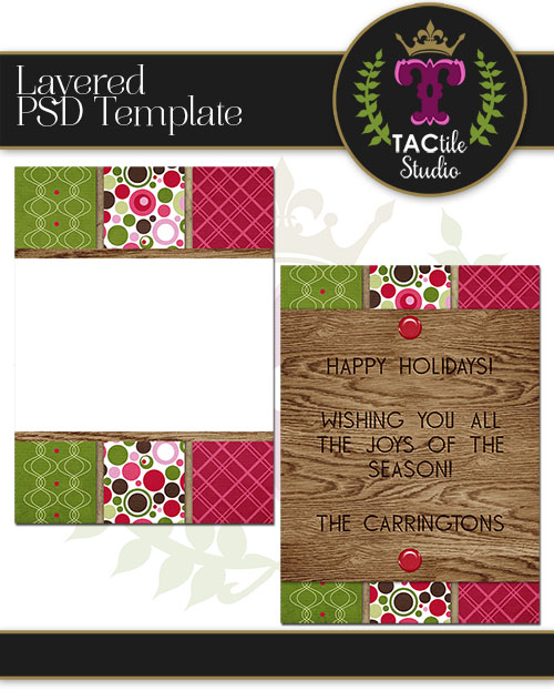 Bold Stripe Card Template