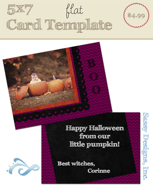 Boo Card Template