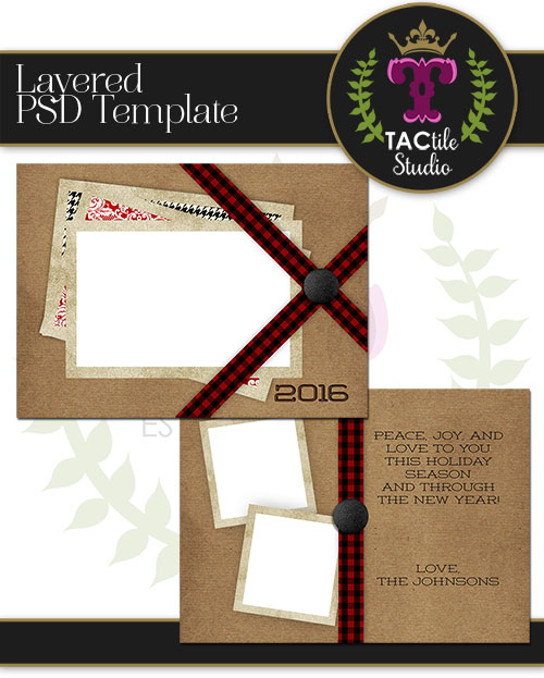 Buttoned Card Template