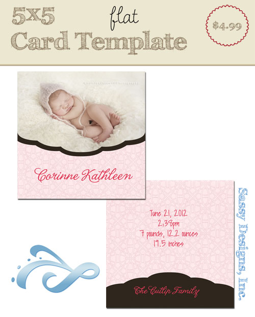 Cloud Card Template
