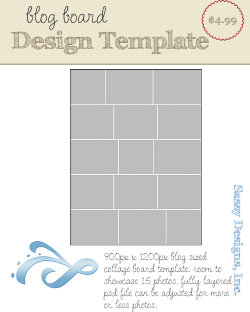 Collage Blog Board Template