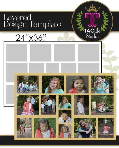 Collage 24x36 Storyboard Template
