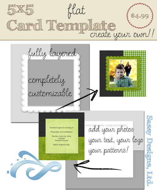 Create Your Own Card Template #05