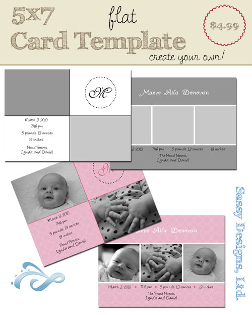 Create Your Own Card Template #06