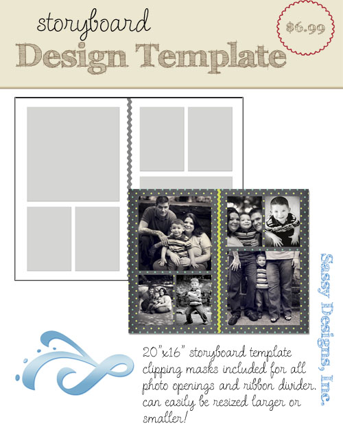 Divided 16x20 Storyboard Template