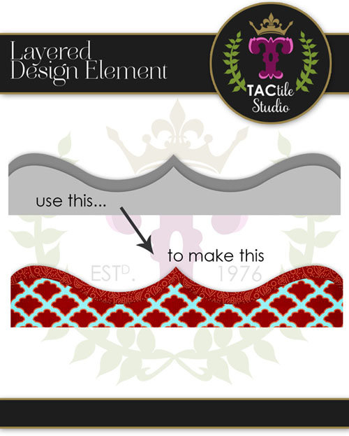 Double Pointed Layered Border