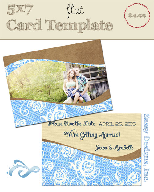 Electric Card Template