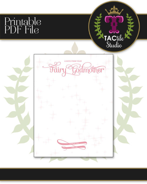 Official Fairy Godmother Letterhead