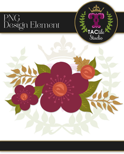 Fall Floral Design Element #1