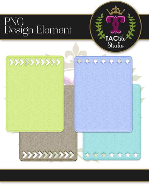 Felted Cutout Journaling Cards - Set 2