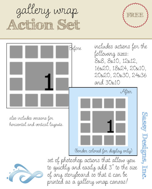 Gallery Wrap Action Set