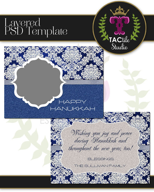 Glittered Card Template