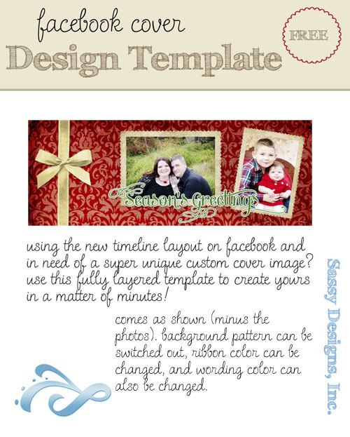 Holiday Facebook Cover Image Template
