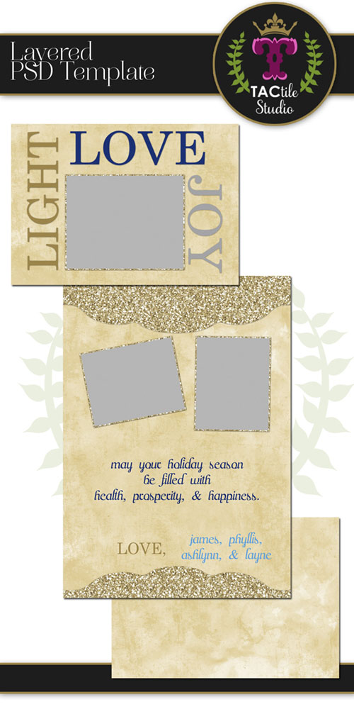 Light Love Joy Card Template