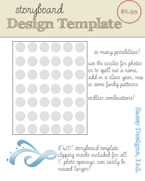 Little Circles 8x10 Storyboard Template