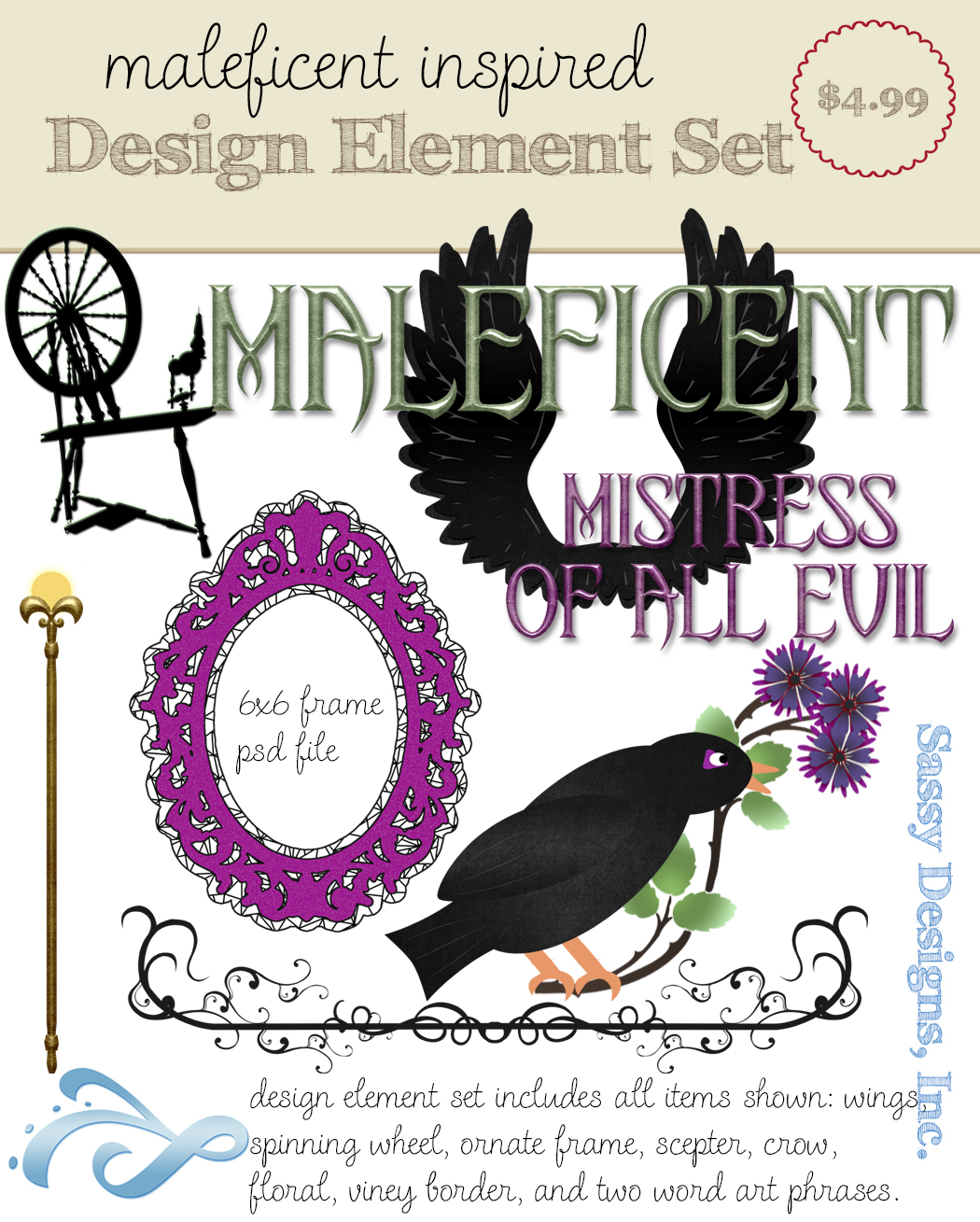 Maleficent Inspired Design Elements