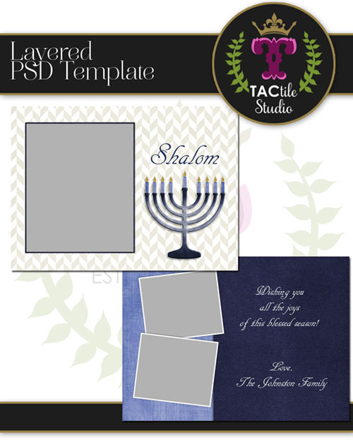 Menorah Card Template