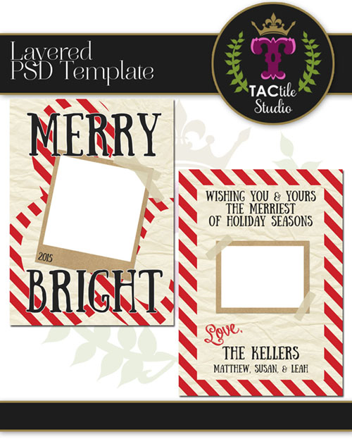 Merry & Bright Card Template