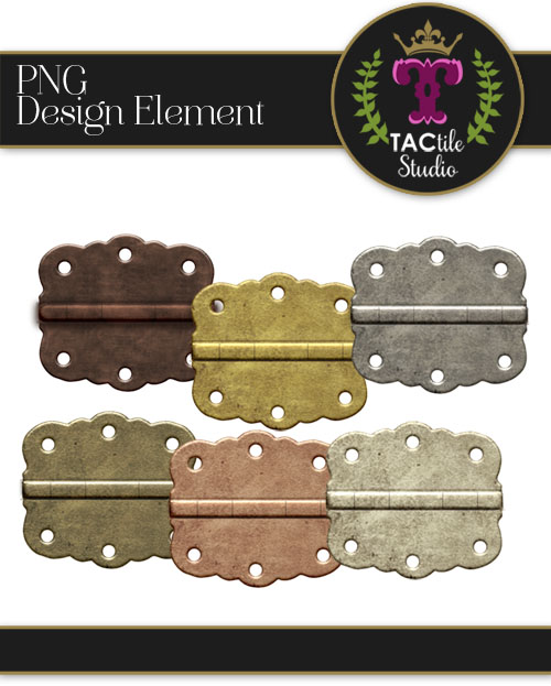 Scalloped Metal Hinges