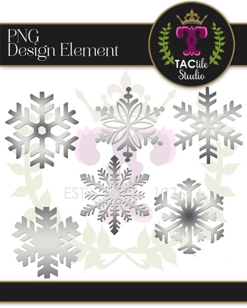 Brushed Metal Snowflake Set
