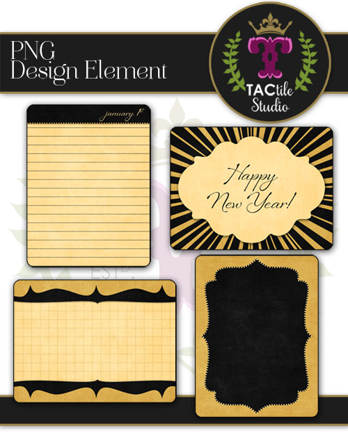 New Year Journaling Cards