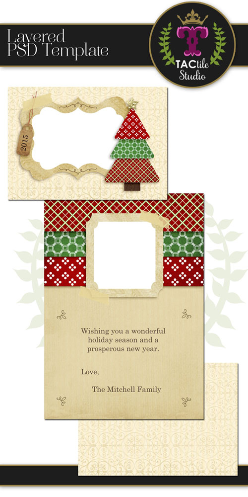 Oh Christmas Tree Card Template