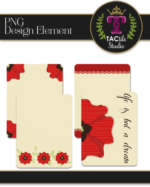 Poppy Journaling Cards