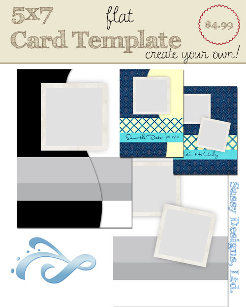 "Create Your Own Card Template #10 ""Sausalito"""