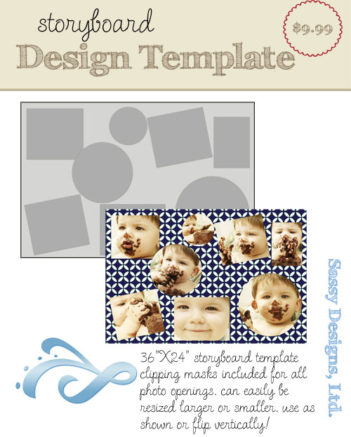 Scrumptious 24x36 Storyboard Template