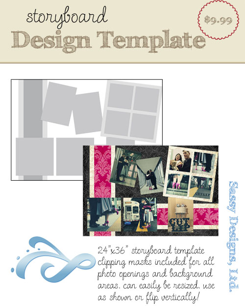 Shoreline 24x36 Storyboard Template