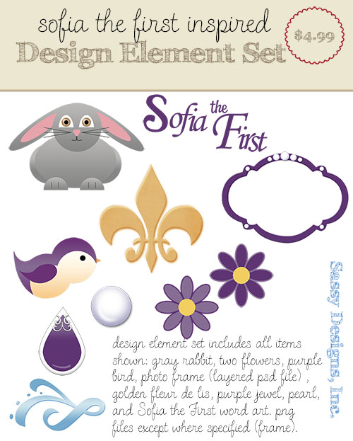 Sofia the First Inspired Design Elements