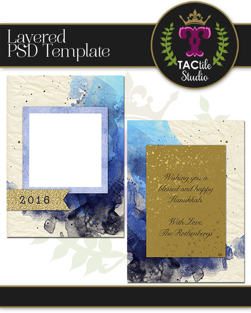 Splattered Card Template