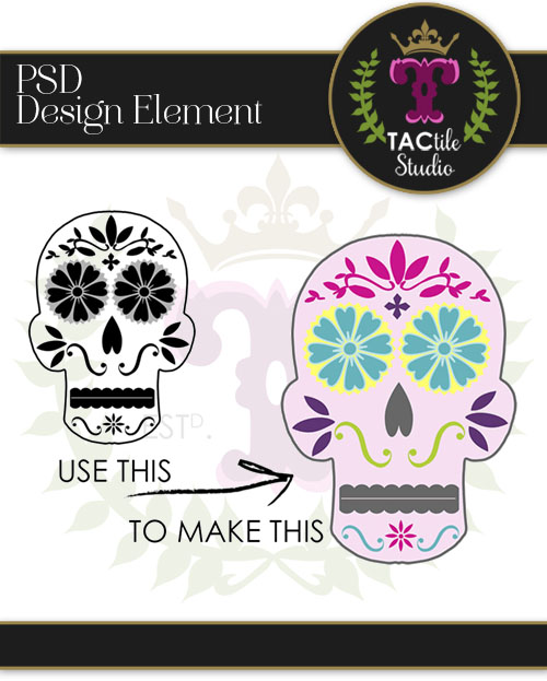 Customizable Sugar Skull