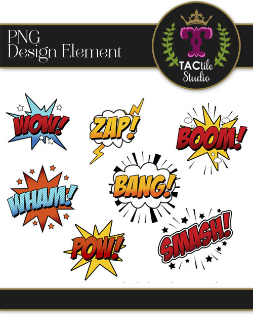 Superhero Sound Effect Elements