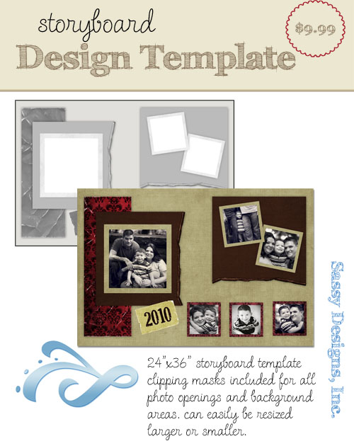 Tattered 24x36 Storyboard Template