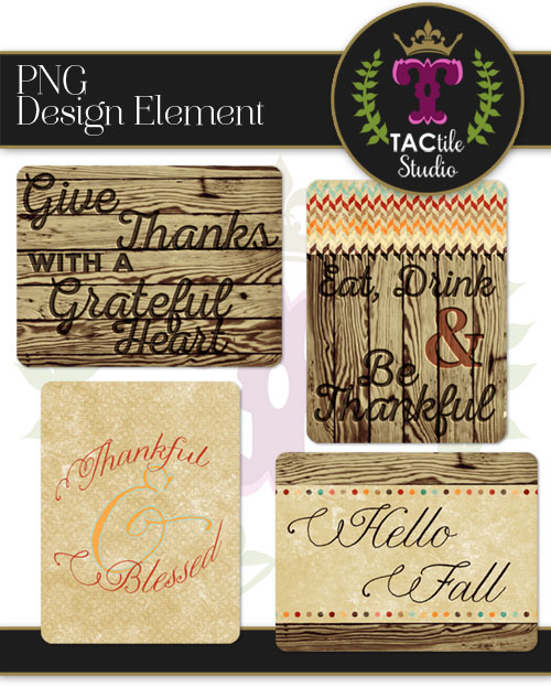Thanksgiving Journaling Cards