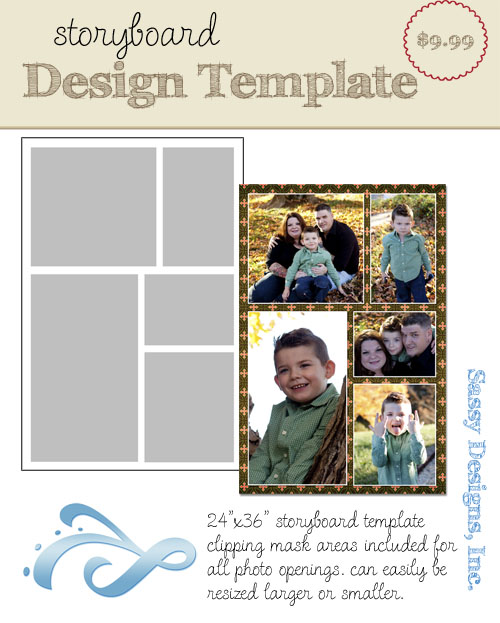 Thoughtful 24x36 Storyboard Template