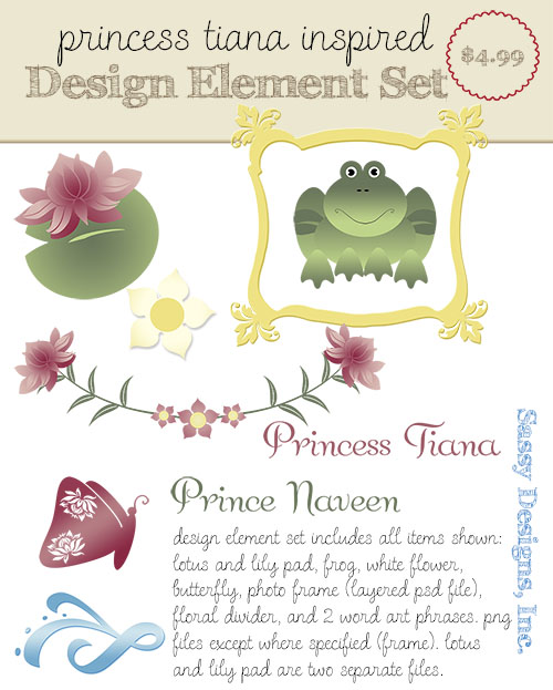 Tiana Inspired Design Elements